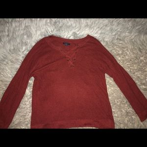 Maroon American Eagle sweater
